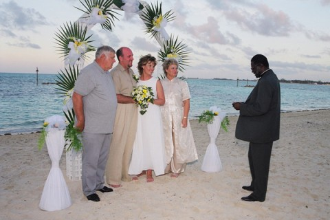 wedding photo taken by professional bahamian photographer