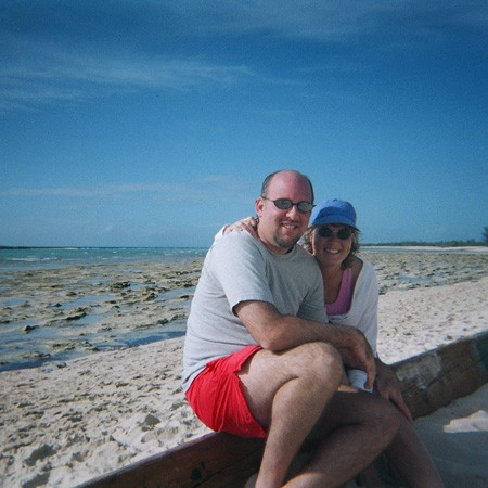 Jim and Lynnette after a full day of snorkeling in the Bahamas.