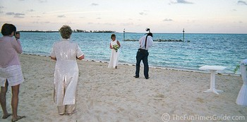 Our beach wedding location in the Bahamas.