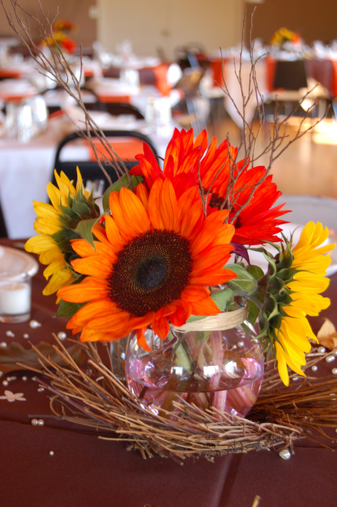 Wedding by designs autumn centerpieces